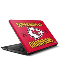 Kansas City Chiefs Super Bowl LIV Champions HP Notebook Skin