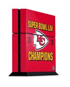 Kansas City Chiefs Super Bowl LIV Champions PS4 Console Skin