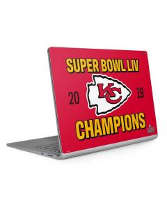 Kansas City Chiefs Super Bowl LIV Champions Surface Book 2 15in Skin