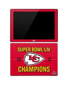 Kansas City Chiefs Super Bowl LIV Champions Surface Pro 3 Skin