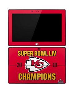 Kansas City Chiefs Super Bowl LIV Champions Surface RT Skin