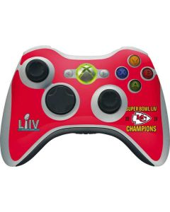 Kansas City Chiefs Super Bowl LIV Champions Xbox 360 Wireless Controller Skin
