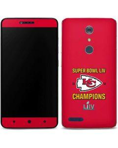 Kansas City Chiefs Super Bowl LIV Champions ZTE ZMAX Pro Skin