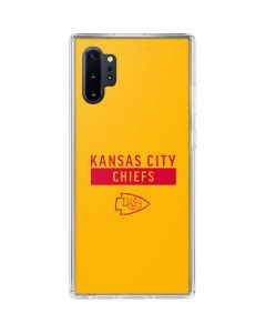 Kansas City Chiefs Yellow Performance Series Galaxy Note 10 Plus Clear Case