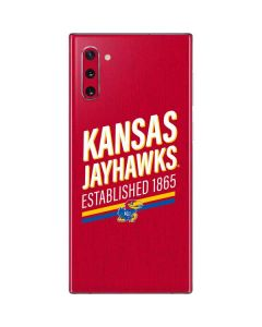 Kansas Jayhawks Established 1865 Galaxy Note 10 Skin