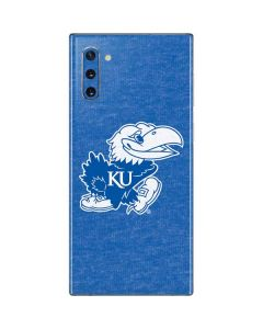 Kansas Jayhawks Mascot Outline Galaxy Note 10 Skin