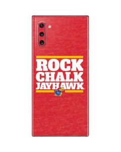 Kansas Rock Chalk Jayhawk Galaxy Note 10 Skin