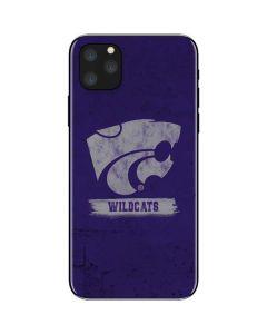 Kansas State Wildcats Distressed iPhone 11 Pro Max Skin