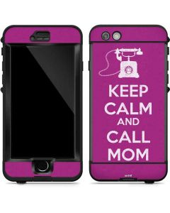 Keep Calm And Call Mom Purple LifeProof Nuud iPhone Skin