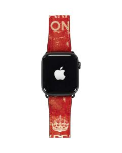 Keep Calm and Carry On Distressed Apple Watch Band 42-44mm