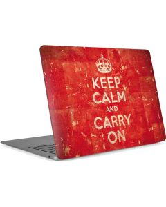 Keep Calm and Carry On Distressed Apple MacBook Air Skin