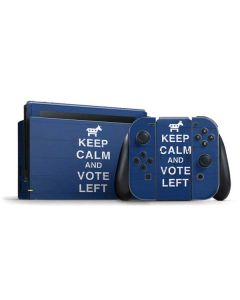 Keep Calm And Vote Left Nintendo Switch Bundle Skin