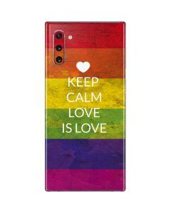Keep Calm Love Is Love Galaxy Note 10 Skin