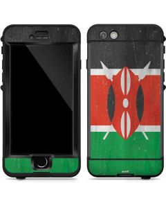 Kenya Flag Distressed LifeProof Nuud iPhone Skin