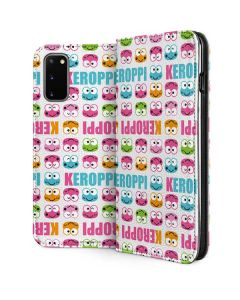 Keroppi Multi-Colored Wallpaper Galaxy S20 Folio Case