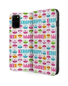 Keroppi Multi-Colored Wallpaper Galaxy S20 Plus Folio Case