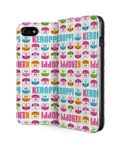 Keroppi Multi-Colored Wallpaper iPhone SE Folio Case