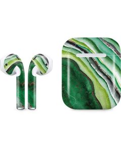 Kiwi Watercolor Geode Apple AirPods Skin