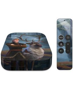 Kristoff and Sven Apple TV Skin