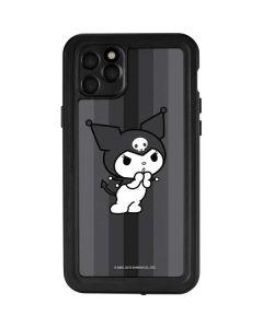 Kuromi Black and White iPhone 11 Pro Max Waterproof Case