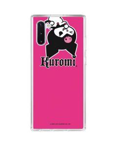 Kuromi Bold Print Galaxy Note 10 Clear Case