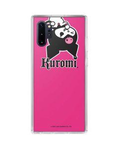 Kuromi Bold Print Galaxy Note 10 Plus Clear Case
