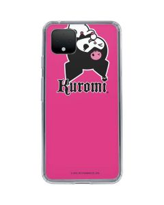 Kuromi Bold Print Google Pixel 4 Clear Case