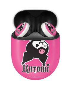 Kuromi Bold Print Google Pixel Buds Skin