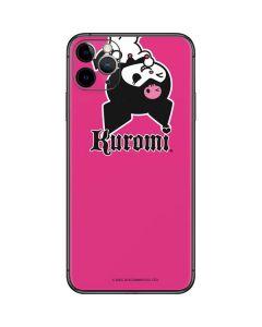 Kuromi Bold Print iPhone 11 Pro Max Skin