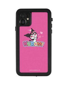 Kuromi Heart Eyes iPhone 11 Waterproof Case