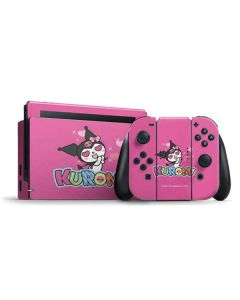 Kuromi Heart Eyes Nintendo Switch Bundle Skin