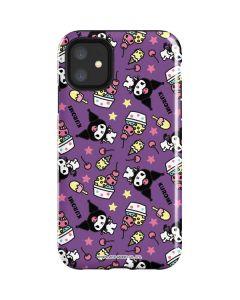 Kuromi Pattern iPhone 11 Impact Case