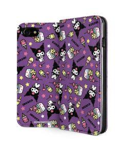 Kuromi Pattern iPhone SE Folio Case