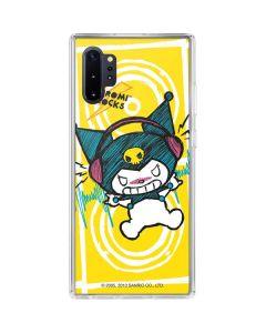 Kuromi Rocker Girl Yellow Stereos Galaxy Note 10 Plus Clear Case