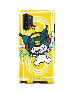 Kuromi Rocker Girl Yellow Stereos Galaxy Note 10 Plus Pro Case