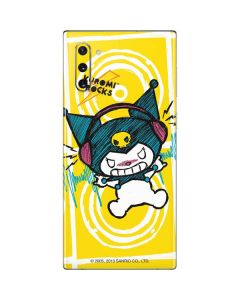 Kuromi Rocker Girl Yellow Stereos Galaxy Note 10 Skin