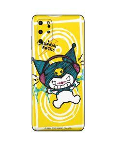 Kuromi Rocker Girl Yellow Stereos Galaxy S20 Plus Skin