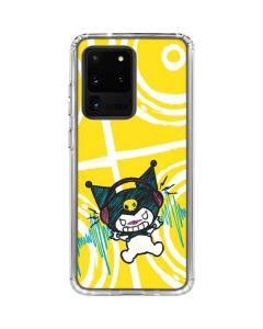 Kuromi Rocker Girl Yellow Stereos Galaxy S20 Ultra 5G Clear Case