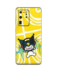 Kuromi Rocker Girl Yellow Stereos Galaxy S20 Ultra 5G Skin