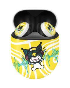 Kuromi Rocker Girl Yellow Stereos Google Pixel Buds Skin