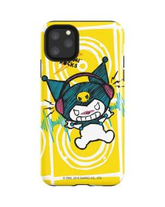Kuromi Rocker Girl Yellow Stereos iPhone 11 Pro Max Impact Case