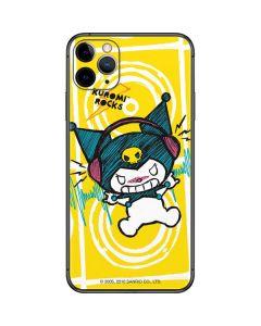 Kuromi Rocker Girl Yellow Stereos iPhone 11 Pro Max Skin