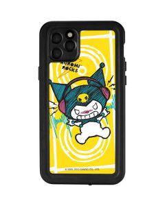 Kuromi Rocker Girl Yellow Stereos iPhone 11 Pro Max Waterproof Case