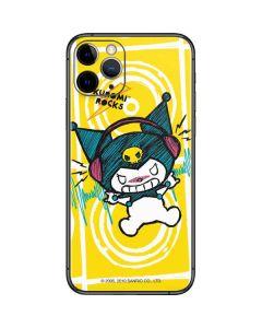 Kuromi Rocker Girl Yellow Stereos iPhone 11 Pro Skin