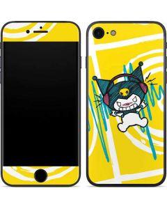 Kuromi Rocker Girl Yellow Stereos iPhone SE Skin
