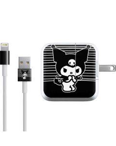 Kuromi Stripes iPad Charger (10W USB) Skin
