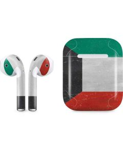 Kuwait Flag Distressed Apple AirPods Skin