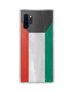 Kuwait Flag Distressed Galaxy Note 10 Plus Clear Case