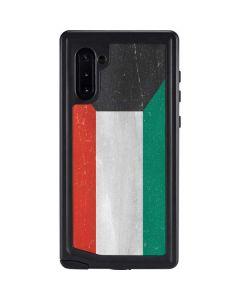 Kuwait Flag Distressed Galaxy Note 10 Waterproof Case