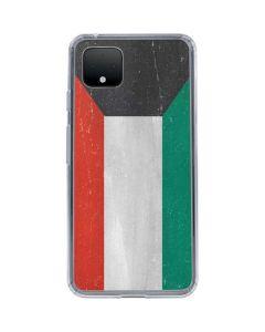 Kuwait Flag Distressed Google Pixel 4 XL Clear Case